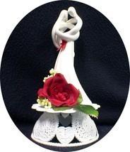 "Romantic Wedding Cake Topper  RED rose ""CIRCLE OF LOVE"" heart Kim LAWREN... - $49.40"