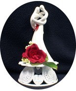 "Romantic Wedding Cake Topper  RED rose ""CIRCLE OF LOVE"" heart Kim LAWREN... - $49.40"