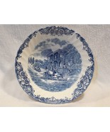 """Vintage Johnson Brothers Blue Heritage Hall French Provincial 8"""" Serving... - $11.95"""