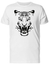 Amazing Angry Tiger Face Men's Tee -Image by Shutterstock - $9.86+