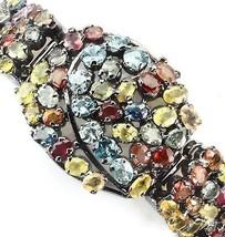 New Classy Custom Huge 236 ct Natural Sapphire, Zircon Silver SS bracele... - $4,999.99