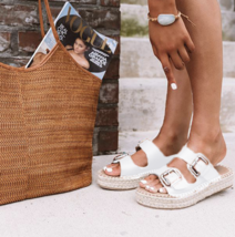 White Amette Buckle Slip On Espadrille - $29.99
