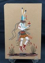 Vintage Original sand painting Navajo Nation dancing ceremony signed - $46.00