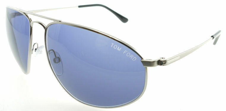 Tom Ford Nicholai Silver / Dark Blue Sunglasses TF189 16V James Bond - $224.42