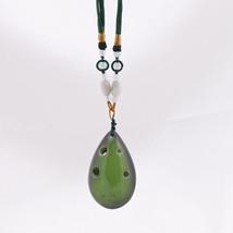 Legend of Zelda 6 Hole C Major Ocarina Limited Edition Green Necklace Pe... - $49.49