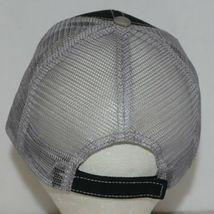 Mega Cap 7641 Grey Mesh Back Black Twill Front Trucker Hat image 5