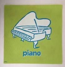 Cranium Hullabaloo Children Game Green Piano Square Foot Mat Floor Pad 2004 - $5.34