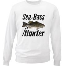 SEA BASS HUNTER - NEW WHITE COTTON SWEATSHIRT - $34.33