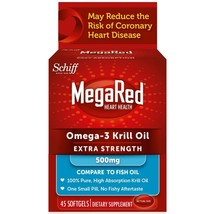 MegaRed Extra Strength Omega 3 Krill Oil 500mg Supplement 45 Softgel (Pa... - $80.95