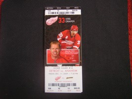 NHL 2009-10 Detroit Red Wings Ticket Stub Vs.Anaheim 12-11-09 - $2.96