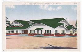 Calvary Presbyterian Church Long Beach California 1920s postcard - $5.94