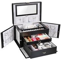 MVPOWER Jewelry Box Faux Leather Travel Case, Jewelry Display Organizer ... - €27,93 EUR