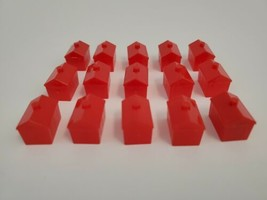 Monopoly Hotels Only Replacement Board Game Parts Parker Brothers 15 Red Hotel - $9.79