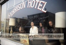 THE DOORS 3 RARE PHOTOS FULL BAND SIGNED AUTOGR... - $53.46