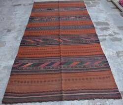 HR, 3'11 x 8'4 Vintage Afghan Nomad Kilim Tribal Persian wool Antique Ru... - $359.10