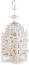 Gifts and Decor Cream White Medallion Candle Holder Hanging Lantern - $42.07