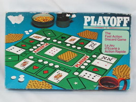 Playoff Discard 1975 Card Game Milton Bradley Complete New Open Box Bilingual %% - $17.82
