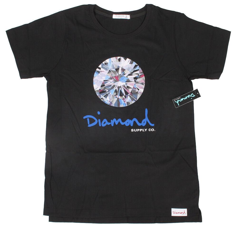 Diamant Supplly Co.Femmes Noir Brillant Tee Nwt