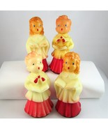 Gurley Novelty Co Christmas choir children wax candles midcentury lot of 4 - $15.89