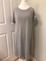Spense Women XL Gray Tunic Dress Short Sleeve Crew Neck t shirt - $14.85
