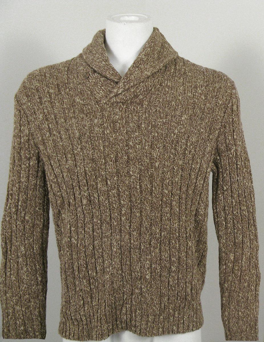 NWT $185 Polo Ralph Lauren Tan Brown Sweater LS Mens L XL 100/%  Merino Wool NEW