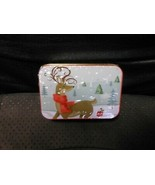 """Christmas Gift Card Holder Tin : Reindeer In Forest 4"""" X 2 3/4"""" by Lindy... - $5.89"""