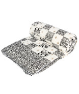 Home Furnishing Bedding Quilt Bedspread Black Square Exotica Double Razai - $47.00