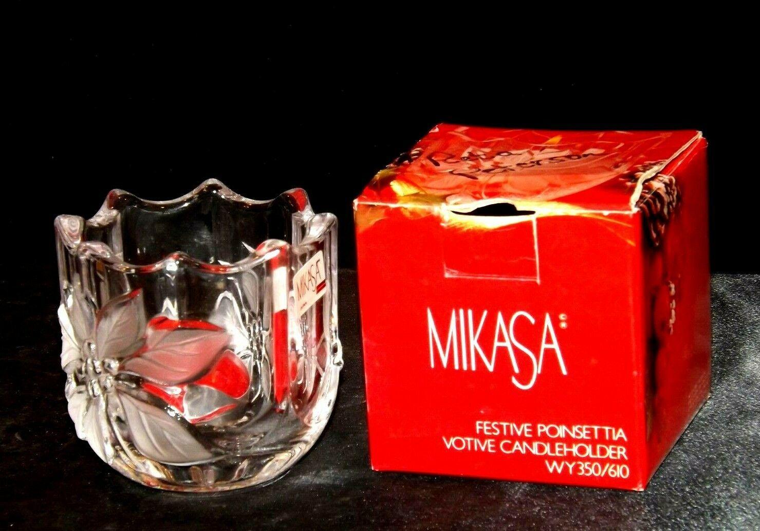 Milkasa Festive Poinsettia Votive Candle Holder AA19-1608 Vintage