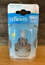 Dr. Brown's Natural Flow Standard Silicone Bottle Nipple, Level 2 3m+, 2 Ct - $6.75