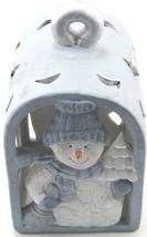 Christmas Ceramic Snowman Lantern Tealight candle or tea light Holder  - $9.46