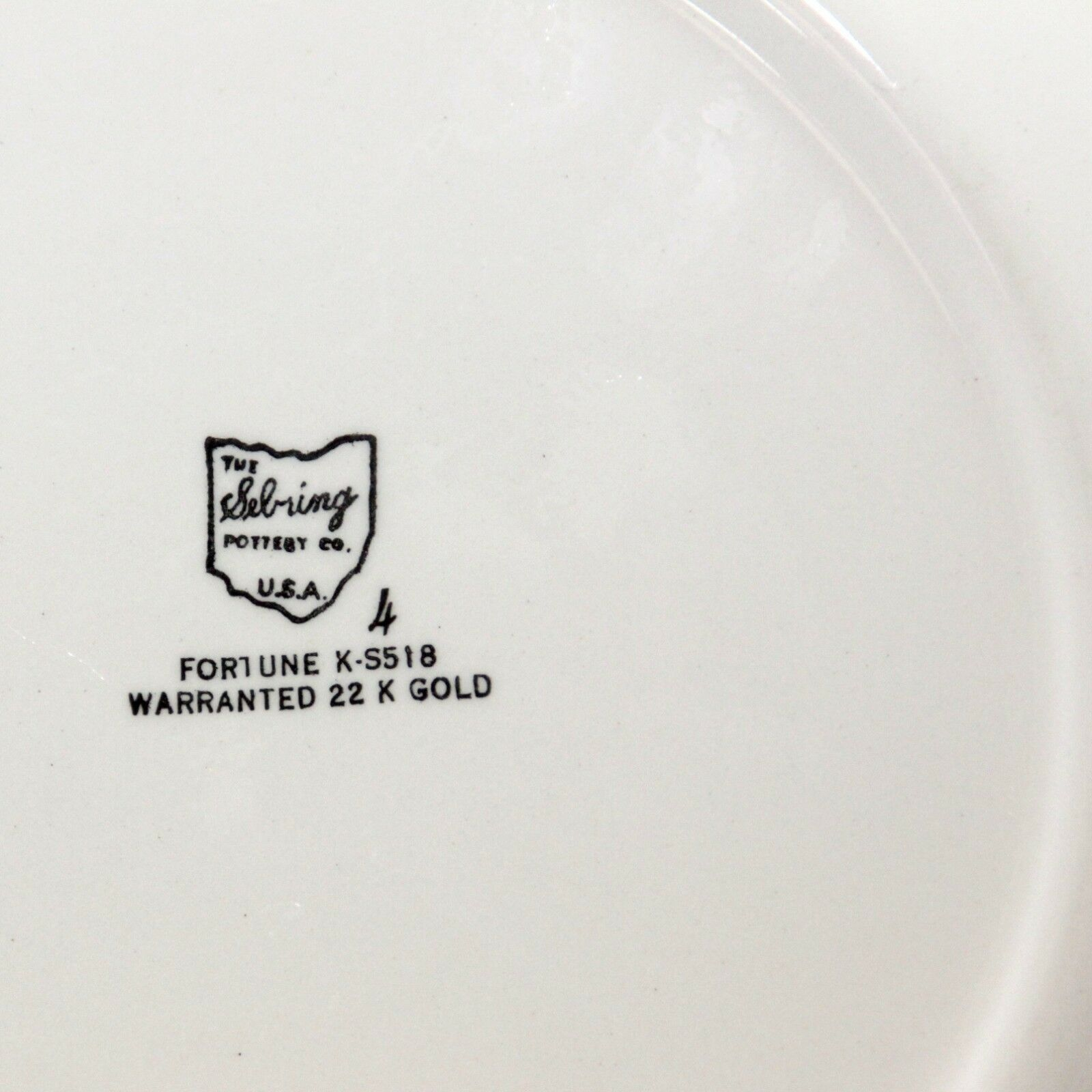 Sebring Ohio Pottery Platter 22K Gold Trim   image 5