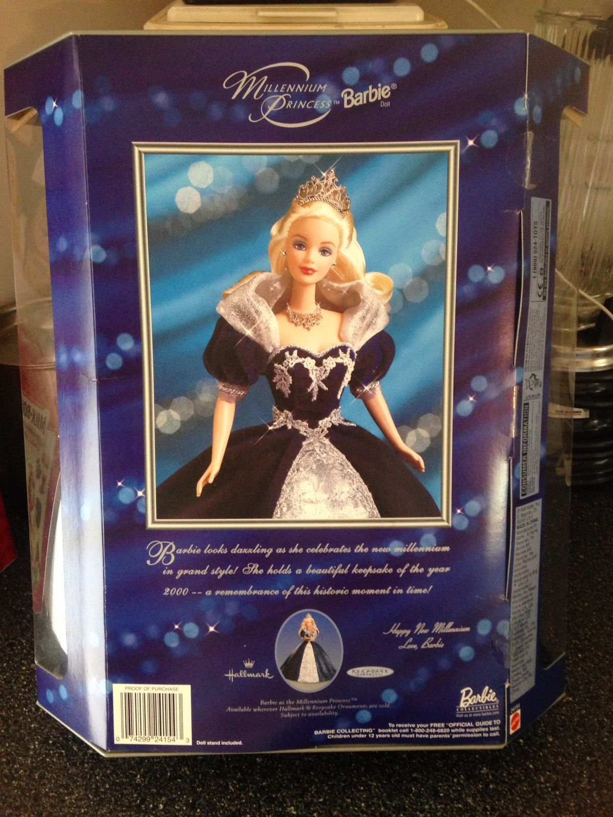 Happy New Year 2000 Millennium Princess Barbie Doll Keepsake Edition Sealed Rare