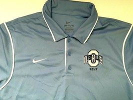 NIKE Golf Polo  shirt Blue  Blue Dry fit Mens Sz Large - $7.91