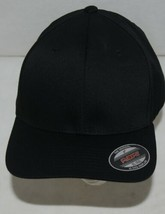 Flexfit Black 6277 Twill Hat L XL Permacurv Visor With Silver Undervisor image 2