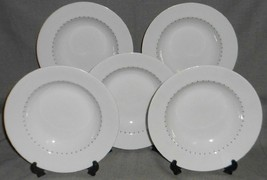 Set (5) Dansk Ditto - Blue Pattern Rimmed Soup Bowls Made In Portugal - $47.51
