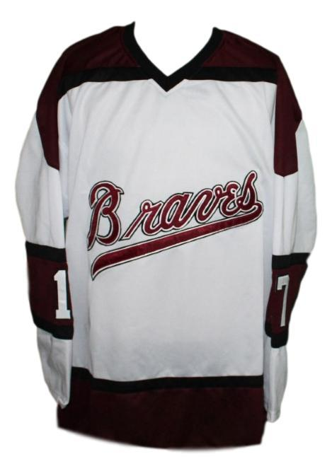 Boston braves retro hockey jersey 1970 white   1