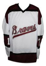 Custom Name # Boston Braves Retro Hockey Jersey 1970 New White Any Size image 1