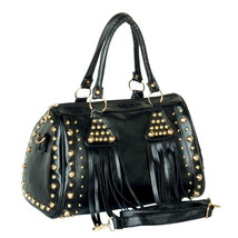 [Special Temptation] Stylish Black Double Handle Bag Handbag - $29.89