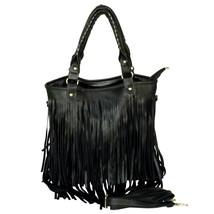 [Night charm] Stylish Black Double Handle Bag Handbag - $23.99