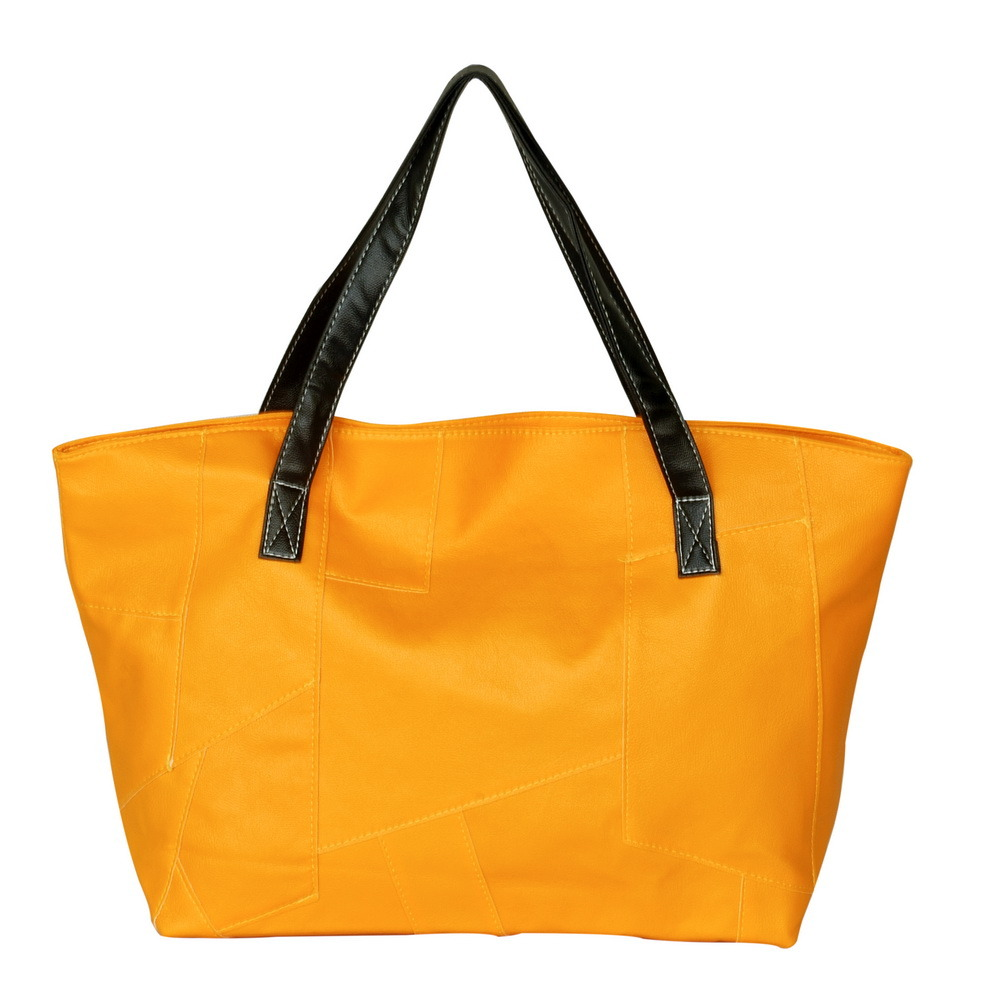 Primary image for [Real Love] Stylish Yellow Double Handle Bag Handbag
