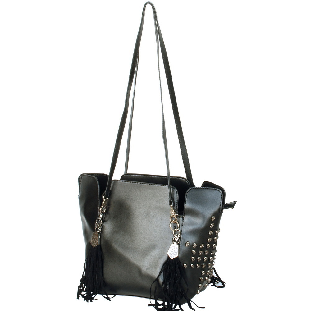 Primary image for [Only You] Stylish Black Double Handle Bag Handbag
