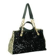 [My Love] Stylish Black Four Carrying Handles Bag Handbag - $35.99