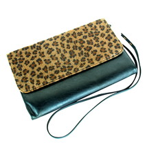 [My Way] Leopard Fur An Strap Handbag - $20.99