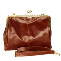 [Touch Me] Stylish Brown Single Handle Bag Handbag - $22.99