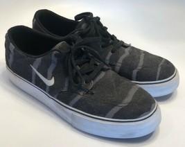 8dc1783bcff Nike Kids SB Clutch Skate Boarding Shoes Sneakers Black Gray White Size 7Y  - $24.49