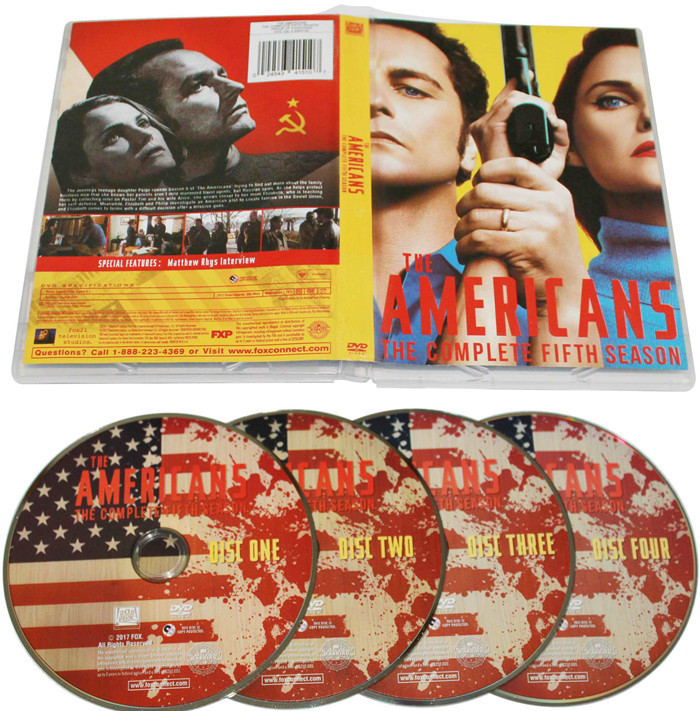 New The Americans The Complete Season 5 DVD Box Set 4 Discs Free Shipping