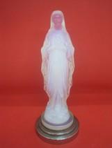 Antique Etling Art Deco Opalescent Glass Figure madonna Our Lady 1976 - $879.10