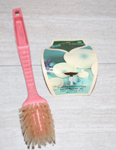 Vintage Mid-Centry Modern Pink Dish Kitchen Vegetable Brush Unused with ... - $21.78