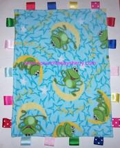 Frogs Moon Stars Ribbon Blanket Baby Boy Girl Fleece Soft Play Shower Gift - $26.95