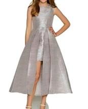Rare Editions Metallic Dress Size 12 Double Strap Sleeveless Peekaboo Ma... - $29.40
